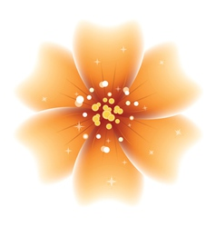 Bright orange flower vector