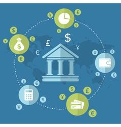 Business bank vector