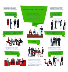 Business People Group Infographics vector image vector image