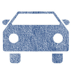 Car fabric textured icon vector