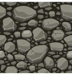 Cartoon stone texture in gray colors seamless vector