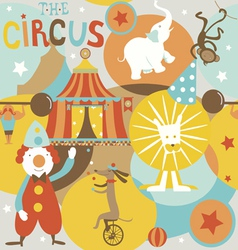 Circus poster retro styled seamless pattern vector