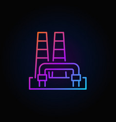 Colorful geothermal power plant icon vector