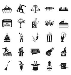 Enchantment icons set simple style vector
