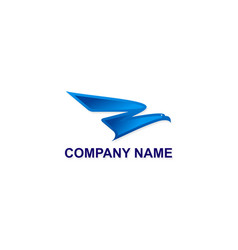 fly eagle abstract company logo vector image