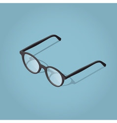 Isometric reading glasses vector image