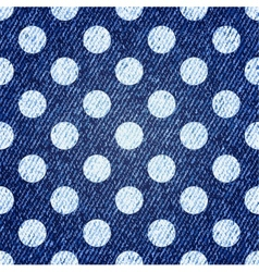 Jeans retro seamless polka-dot background vector image