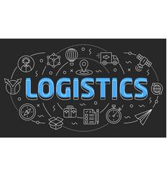 linear logistics vector image vector image