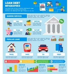 Loan Debt Infographics Layout vector image