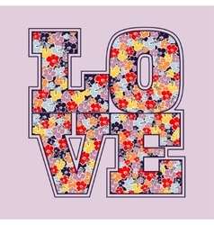 Love print floral design vector