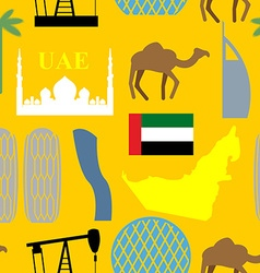 Seamless pattern united arab emirates desert and vector