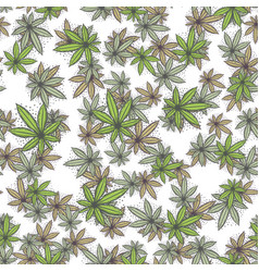 Seamless texture marijuana five vector