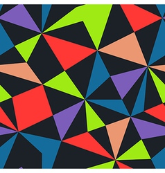 Seamless texture with triangles mosaic endless vector
