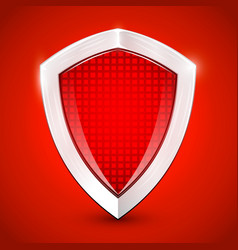 Shiny metal red shied protection concept vector
