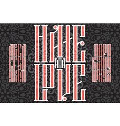 slavic red font 01 vector image