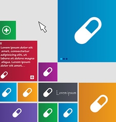 Pill icon sign buttons modern interface website vector