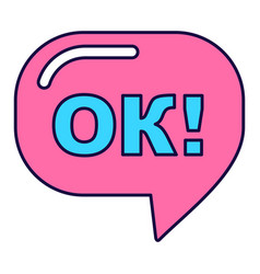 Pink ok sign vector