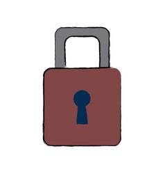 Security protection padlock keyhole close symbol vector