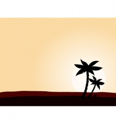 Desert sunrise vector