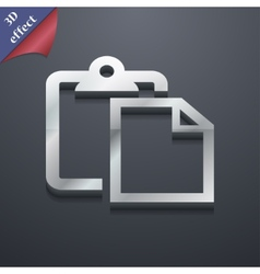 Edit document icon symbol 3d style trendy modern vector
