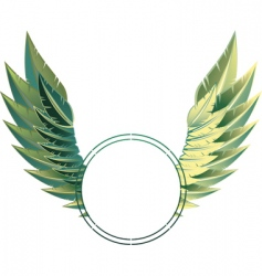 Eagle wings vector