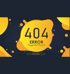 404 error page not found yellow vector image