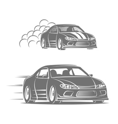 Sport car logo design street racing vector