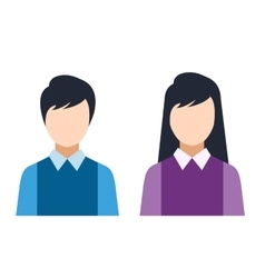 Man and woman silhouette icons vector