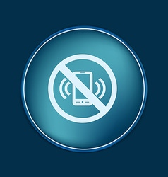 Forbidden to use phone forbidding symbol vector