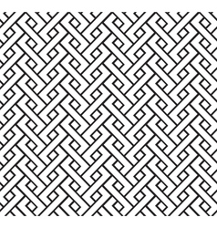 Geometric pigtail pattern vector