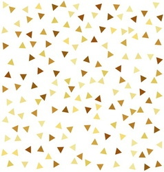Golden seamless pattern with triangles vector