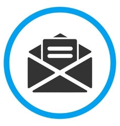 Open mail rounded icon vector