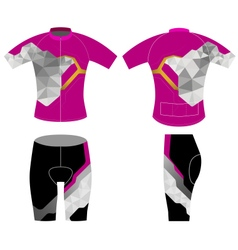 Cycling vest low poly scene vector