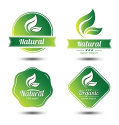 Eco label 7 vector
