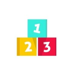 Numeric cubes building blocks vector image