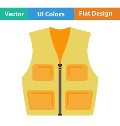 Flat design icon of hunter vest vector