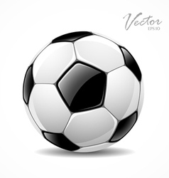 Soccer ball sport football game vector