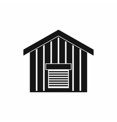 Large barn icon simple style vector