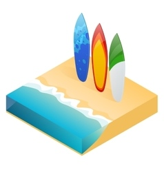 Modern colorful surfboard holiday vector