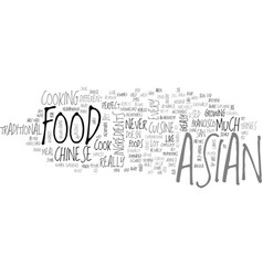 Asian food text background word cloud concept vector