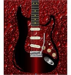 Bubble Guitar vector image vector image