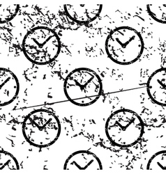 Clock pattern grunge monochrome vector