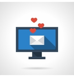 Distance love flat color icon vector image vector image