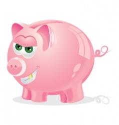Evil piggy bank vector