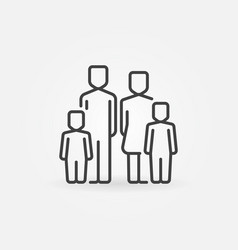 family with two children icon vector image vector image