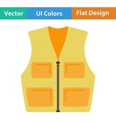 Flat design icon of hunter vest vector