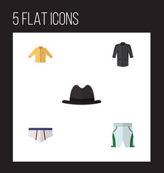 flat icon garment set of underclothes panama vector image