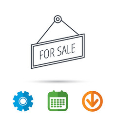 for sale icon advertising banner tag sign vector image