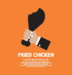 Fried Chickens Calf vector image vector image