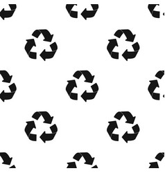 Green recycling sign icon in black style isolated vector